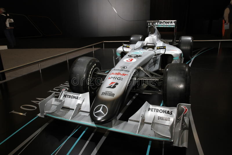 De raceauto van Mercedes Mclaren F1 royalty-vrije stock foto