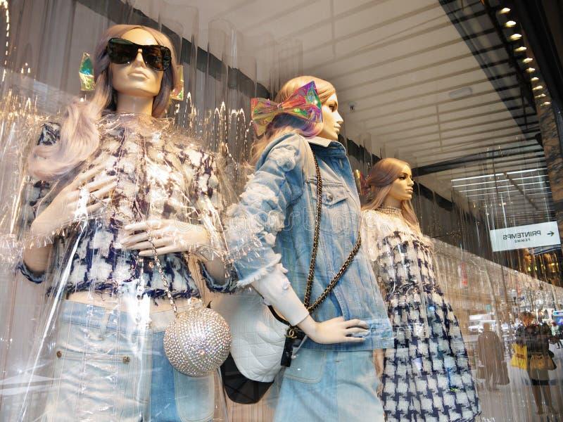 De showcase Printemps Parijs van Chanel Outfits Summer 2018 stock fotografie