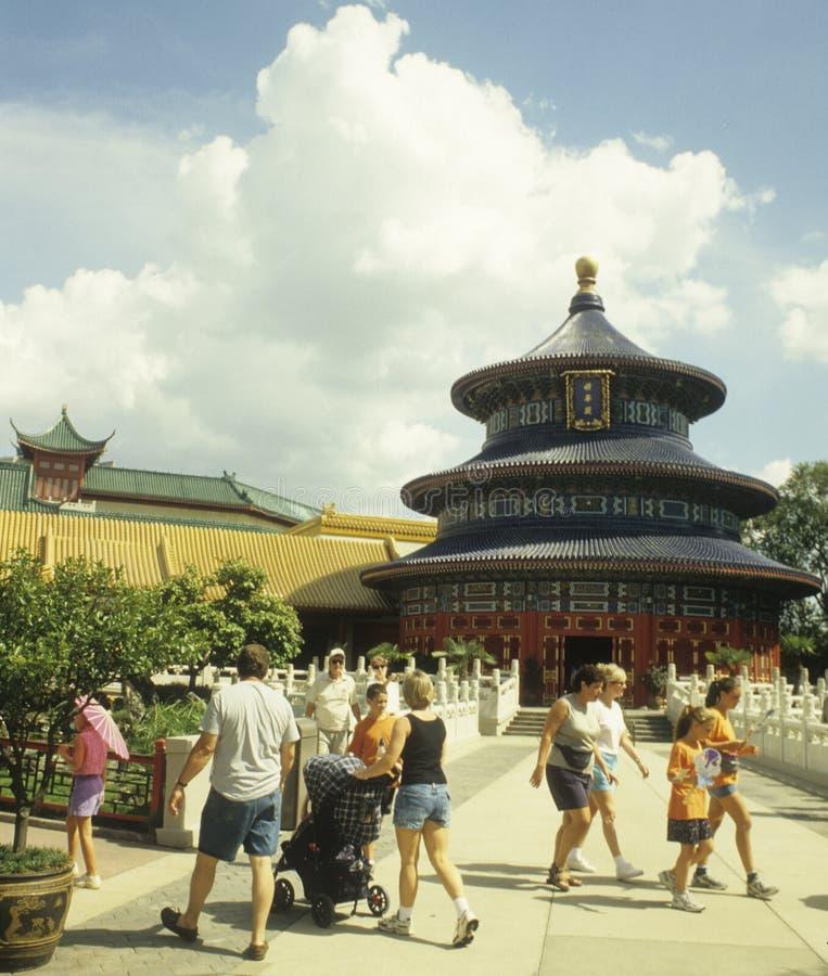 De Showcase van de Wereld van de Wereld EPCOT van Disney - China stock foto