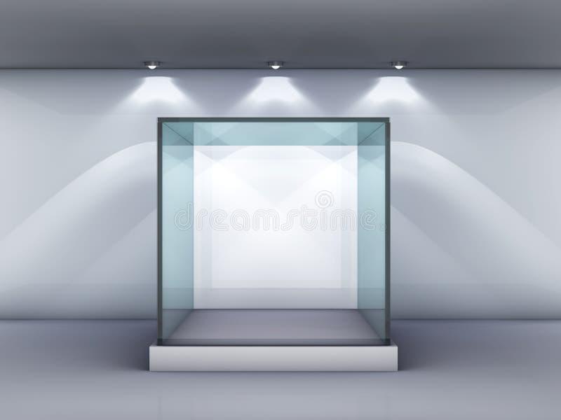 De showcase van het glas in het album vector illustratie