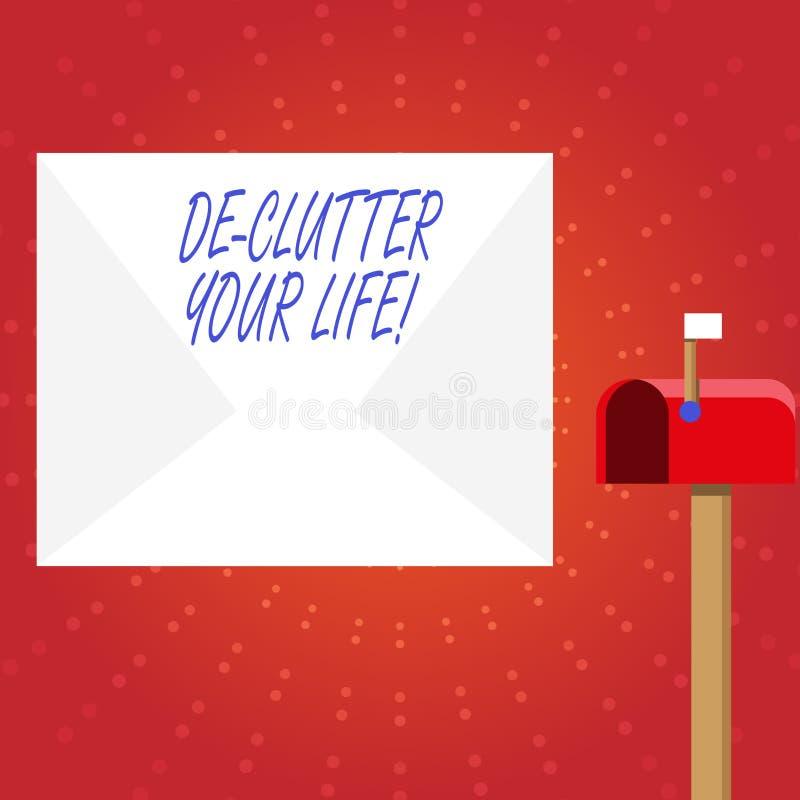 Запись примечания показывая жизнь De Создавать суматоху Ваш Фото дела showcasing для того чтобы извлечь ненужные детали untidy ил иллюстрация вектора