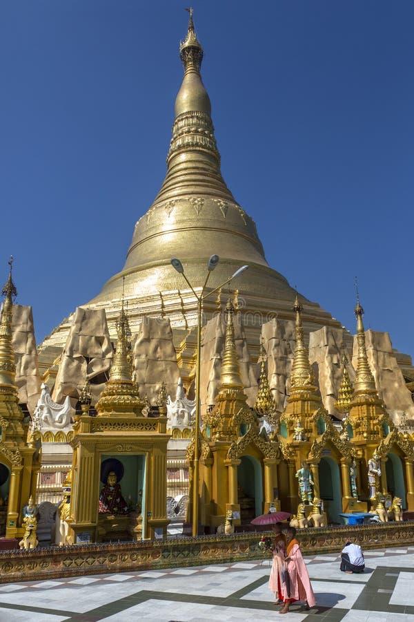 De Pagode van Shwedagon - Yangon- Myanmar royalty-vrije stock foto