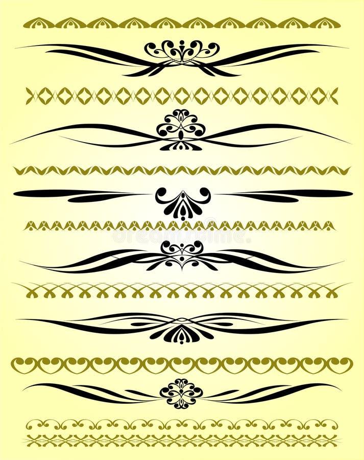 De sier Lijnen van de Regel in Verschillend Ontwerp vector illustratie