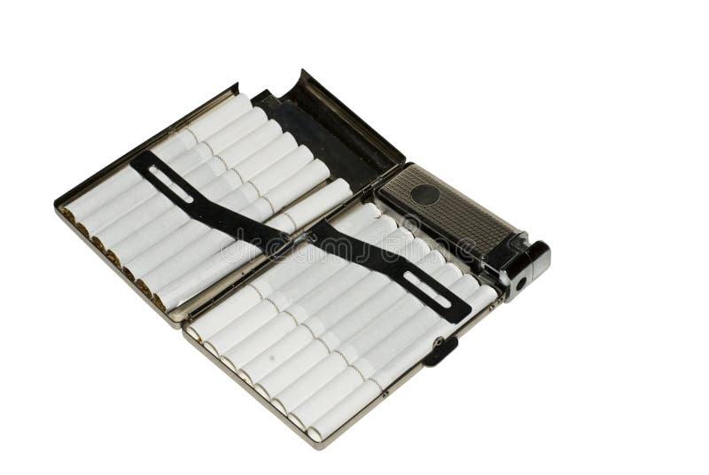 De sigaretdoos van het metaal stock fotografie