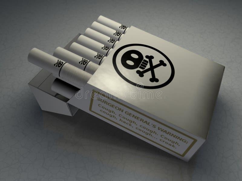 De Sigaretten van het vergift vector illustratie