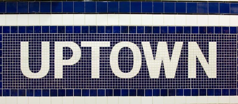 De signe de la ville haute images stock