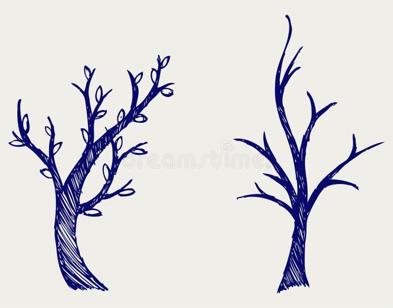 De silhouetten van bomen vector illustratie