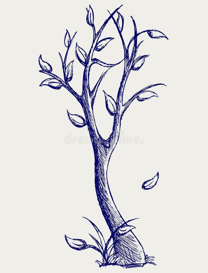 De silhouetten van bomen stock illustratie