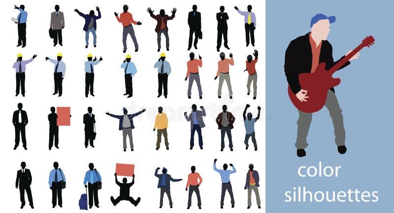 De silhouetten van de kleur vector illustratie