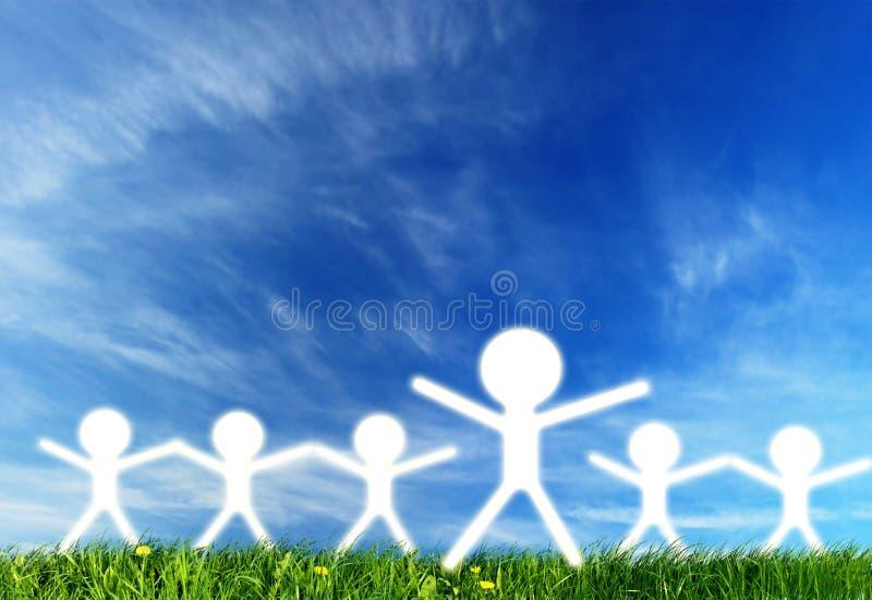 De silhouetten van de leider en van mensen vector illustratie