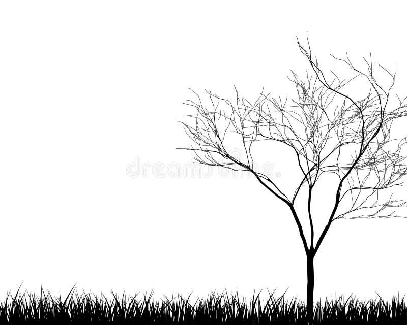 De silhouetten van de weide stock illustratie
