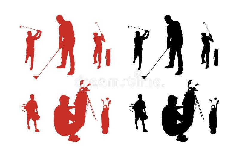 De Silhouetten van het golf royalty-vrije illustratie