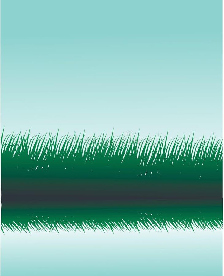 Grassilhouetten vector illustratie
