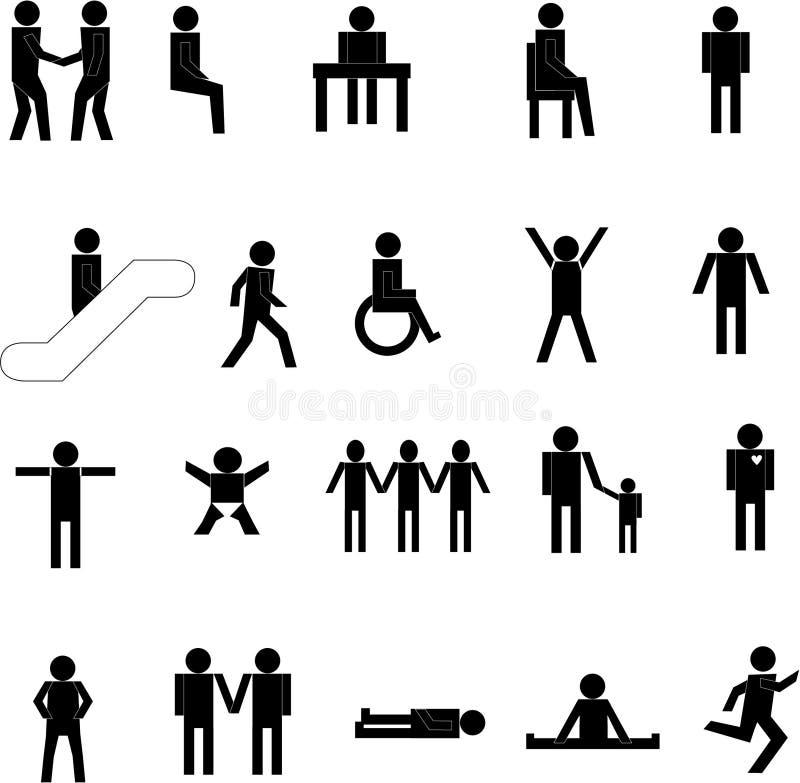 De silhouetten van mensen stock illustratie
