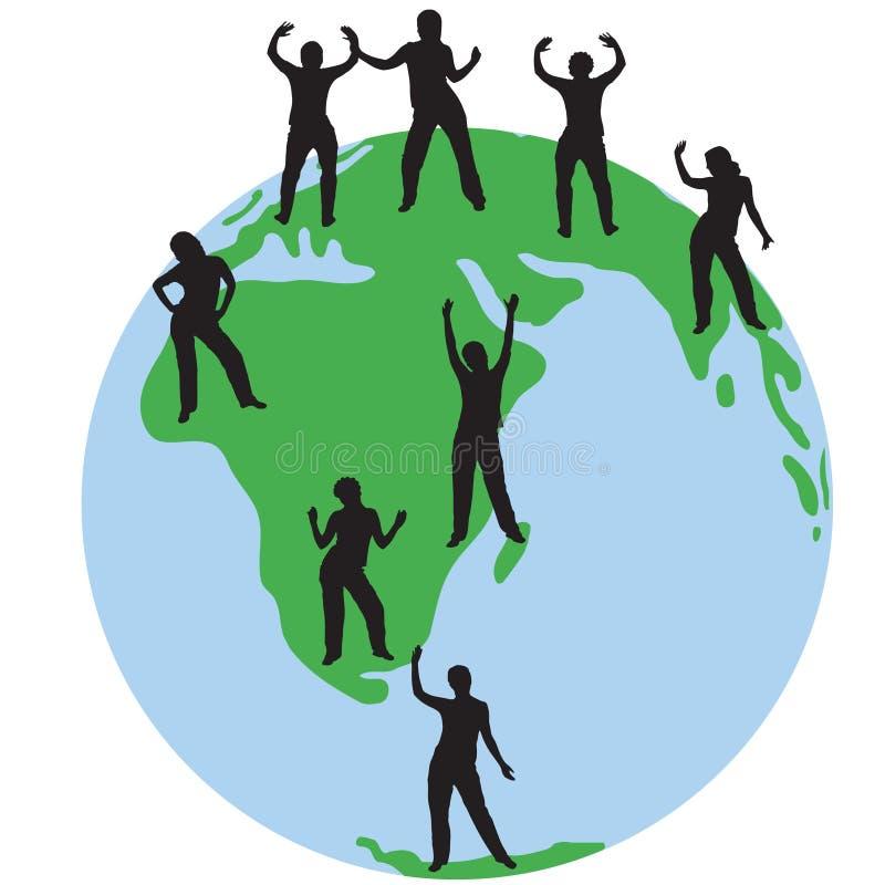 De silhouetten van mensen royalty-vrije illustratie