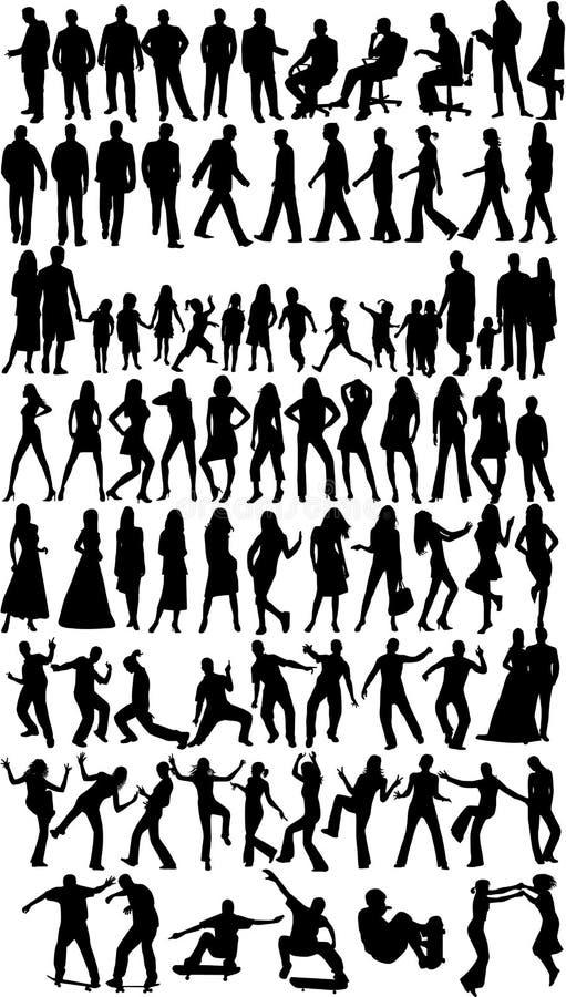 De silhouetten van mensen vector illustratie