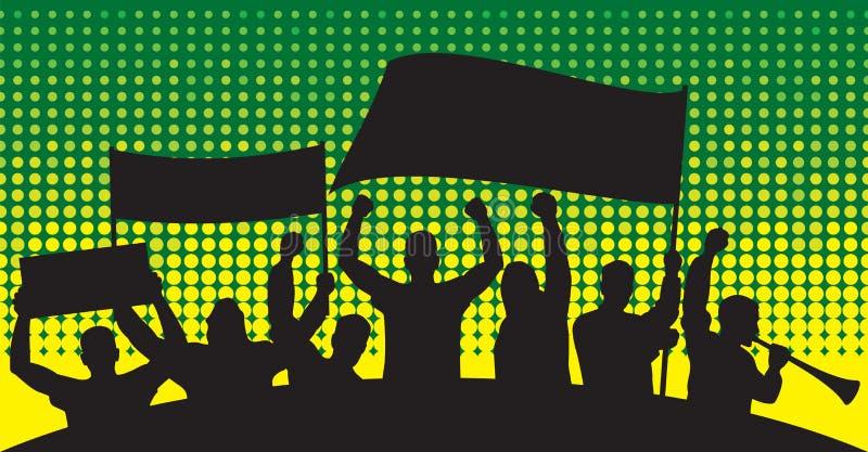 De silhouetten van sportventilators vector illustratie