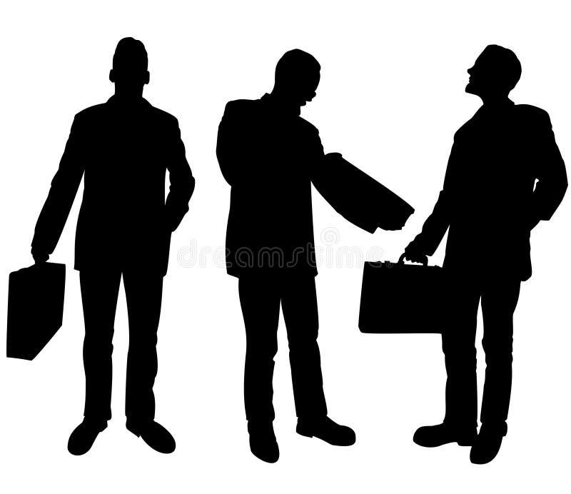 De silhouetten van zakenlieden vector illustratie