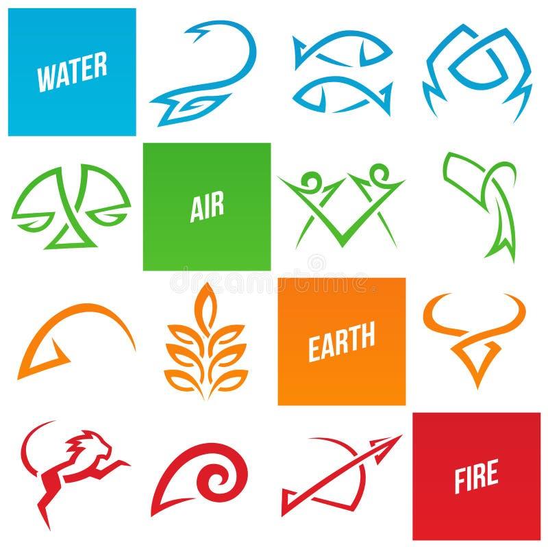 De simplistische tekens van de dierenriemster vector illustratie