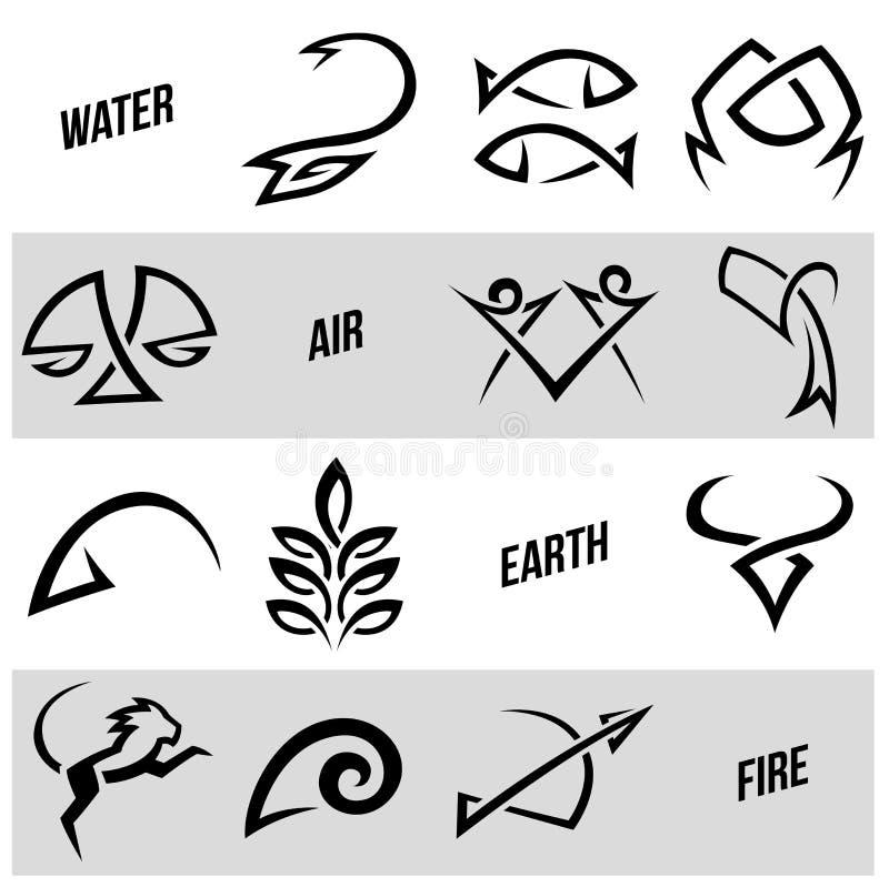 De simplistische tekens van de dierenriemster royalty-vrije illustratie