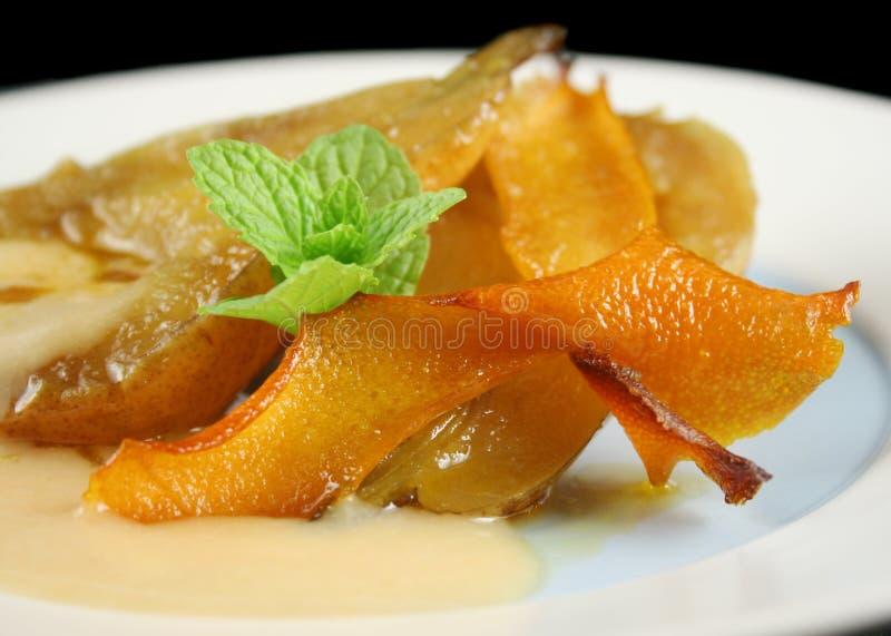 De sinaasappel stroopte Peren royalty-vrije stock fotografie