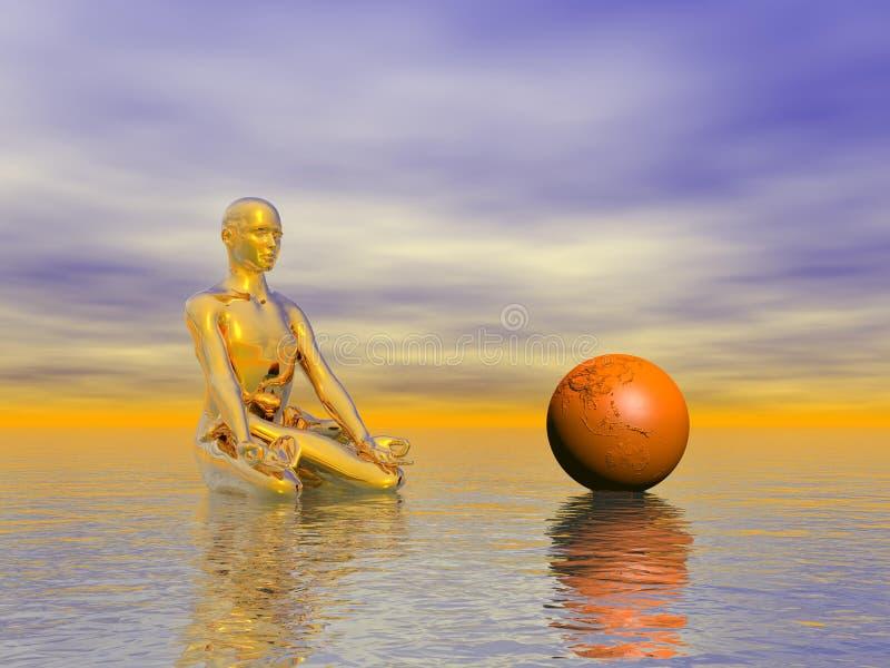 De sinaasappel van Chakra royalty-vrije illustratie