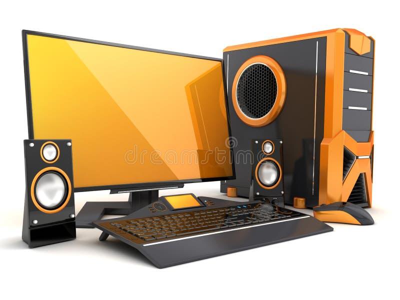 De sinaasappel van de computer stock illustratie