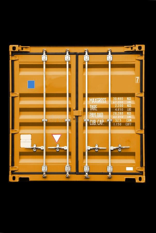 De sinaasappel van de container stock afbeeldingen