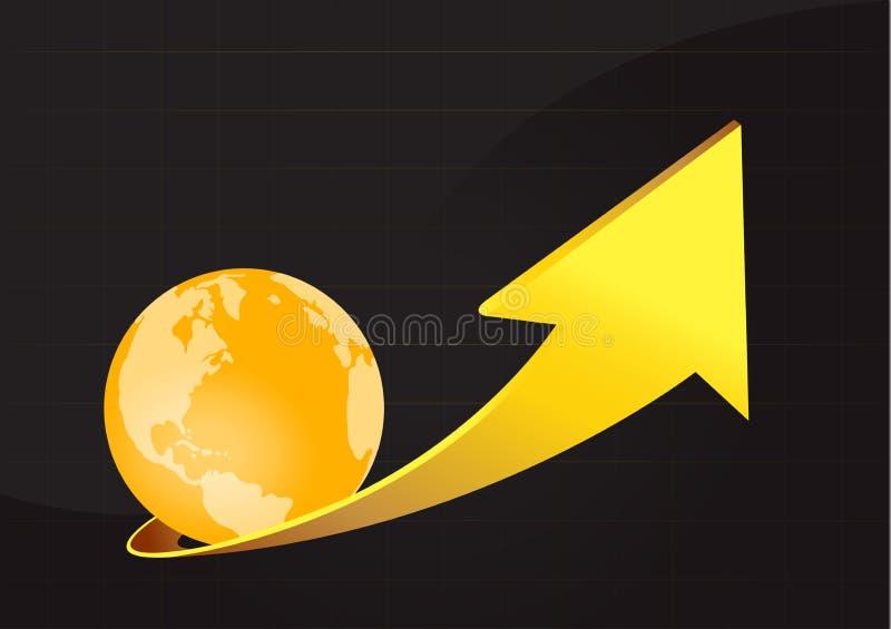De Sinaasappel van de pijlaarde vector illustratie
