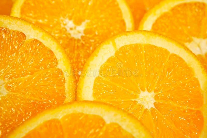 De sinaasappel van de plak stock afbeelding