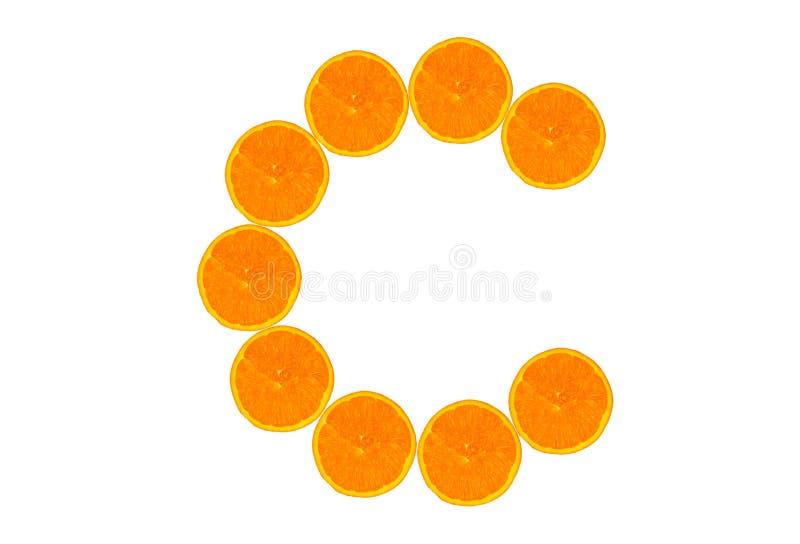 De sinaasappel van de vitamine C royalty-vrije stock afbeeldingen