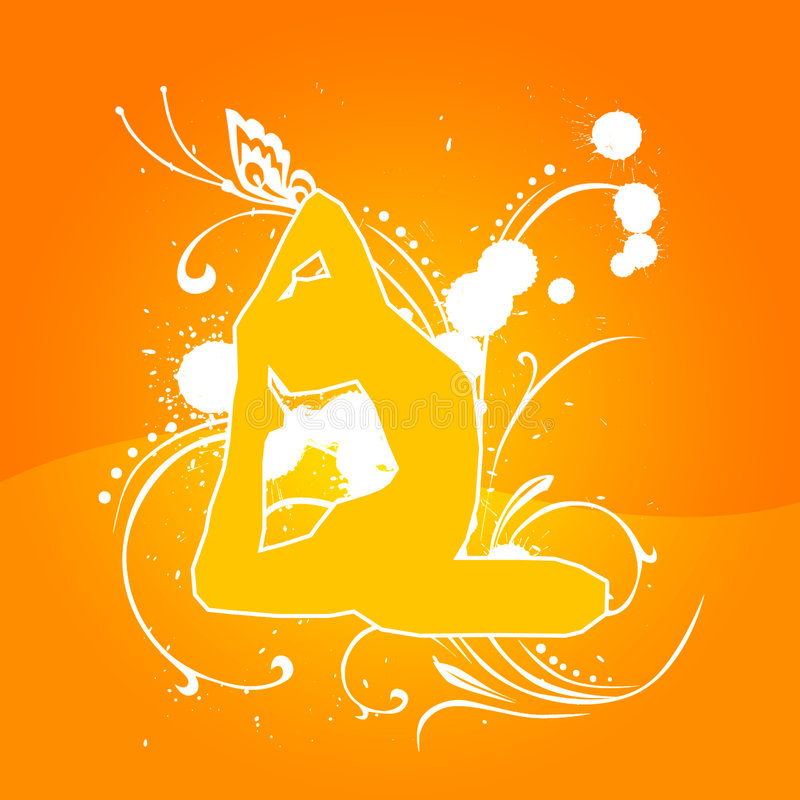 De Sinaasappel van de yoga [03] stock afbeeldingen