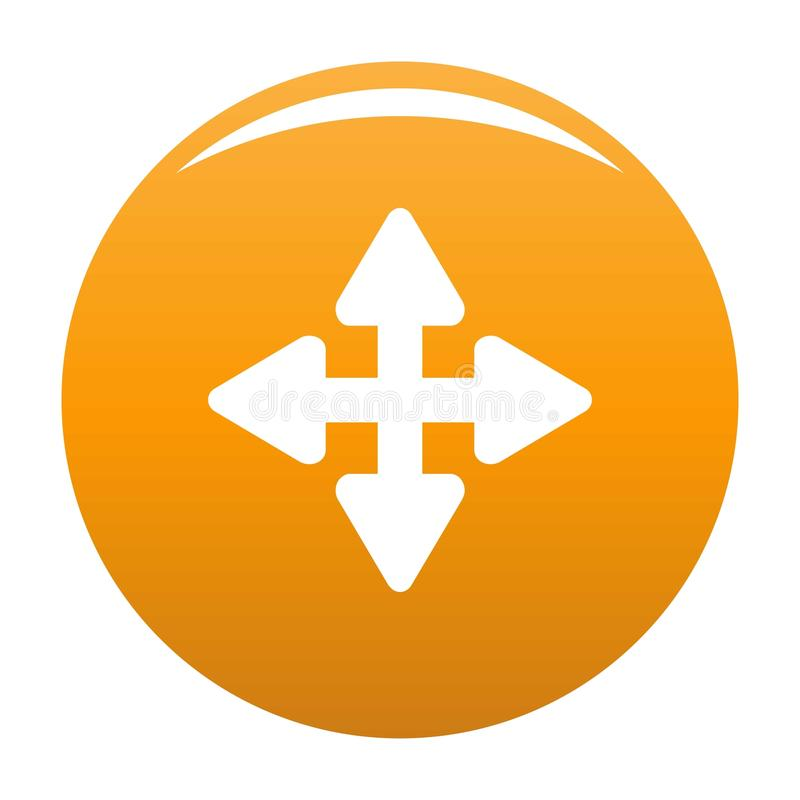 De sinaasappel van het het elementenpictogram van de curseurverplaatsing vector illustratie