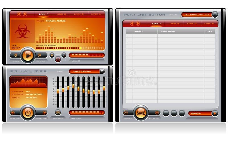 De Sinaasappel van Media Player royalty-vrije illustratie