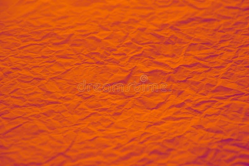 De sinaasappel verfomfaaide document sterk textuur stock foto