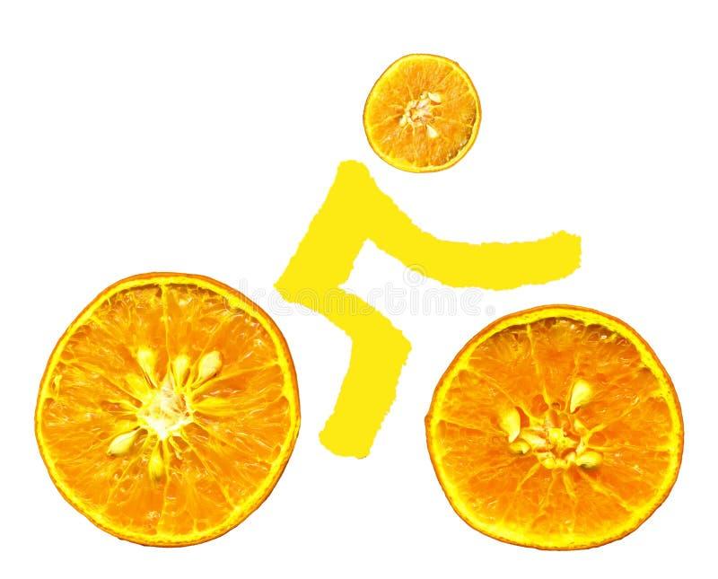 De sinaasappelen van de fiets stock fotografie