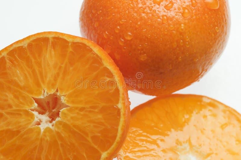 De sinaasappelen van de helften royalty-vrije stock foto