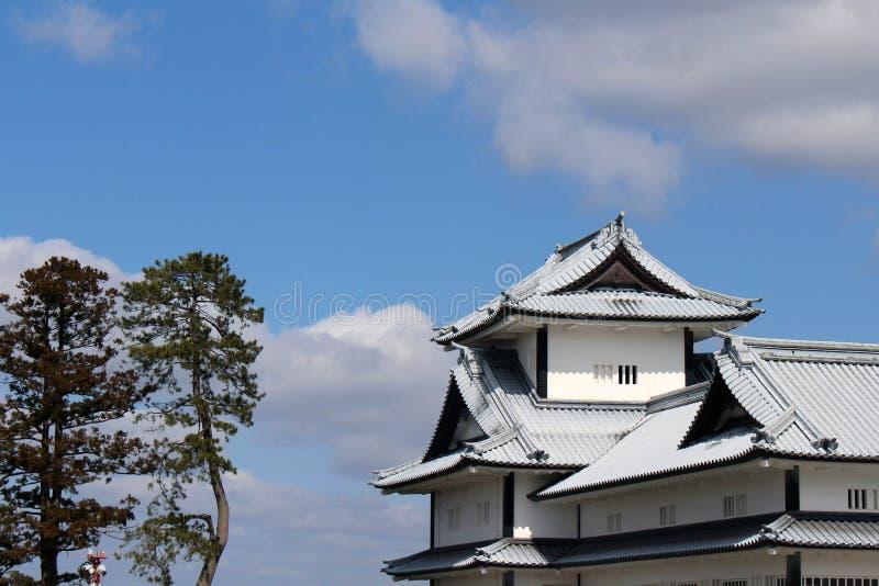 De situatie rond Kanazawa-Kasteel in Ishikawa-Prefectuur, loc stock foto