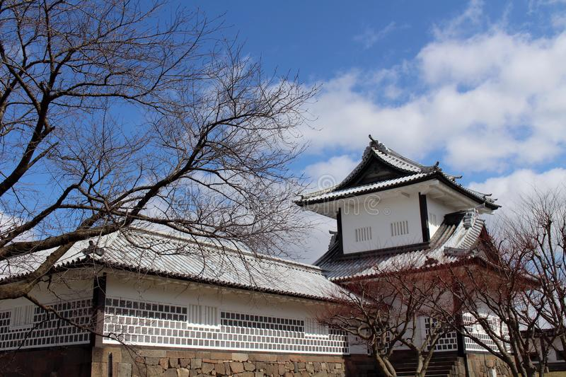 De situatie rond Kanazawa-Kasteel in Ishikawa-Prefectuur, loc stock foto's