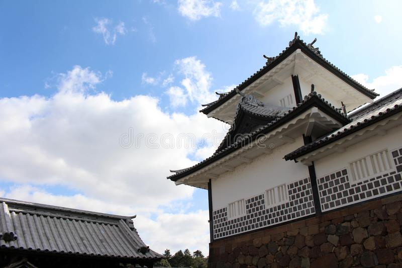De situatie rond Kanazawa-Kasteel in Ishikawa-Prefectuur, loc royalty-vrije stock foto