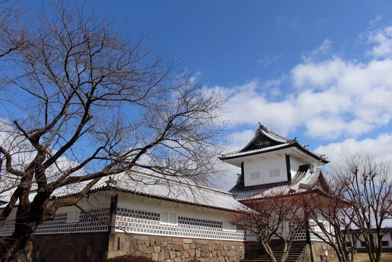 De situatie rond Kanazawa-Kasteel in Ishikawa-Prefectuur, loc royalty-vrije stock foto's