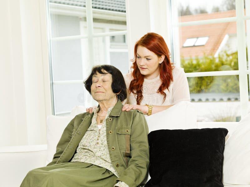 De situatie van de massage stock afbeeldingen