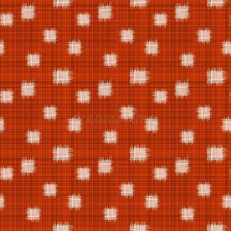 De sjofele Rode Achtergrond van het Stoffen Naadloze Patroon royalty-vrije illustratie