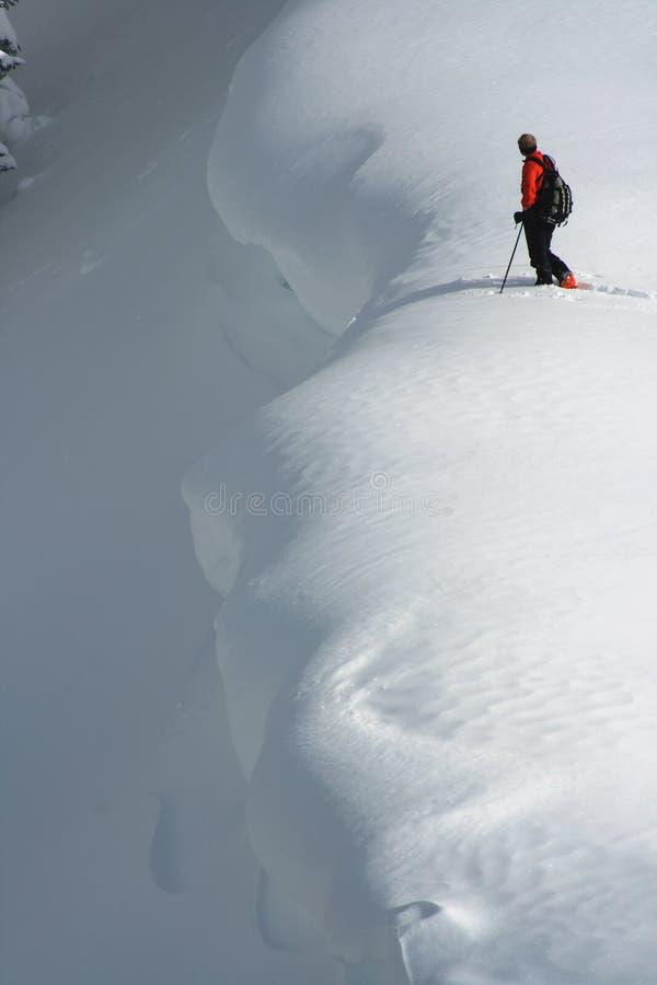 De skiër van Backcountry stock afbeeldingen