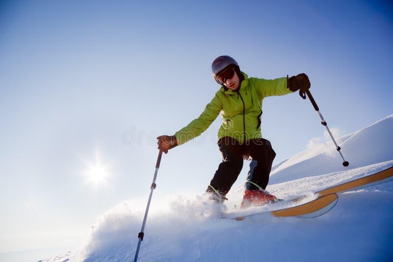 De skiër van Freeride royalty-vrije stock afbeelding