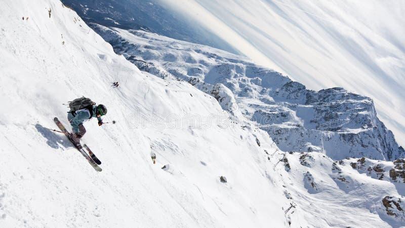 De skiër van Freeride royalty-vrije stock foto
