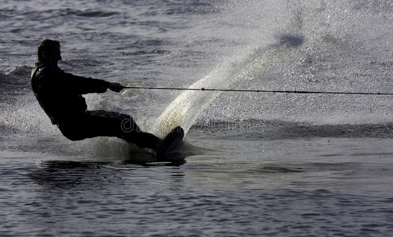 De skiër van het water royalty-vrije stock foto