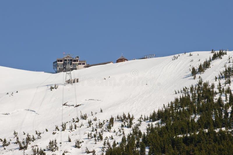 De skitoevlucht van Alyeska royalty-vrije stock afbeelding