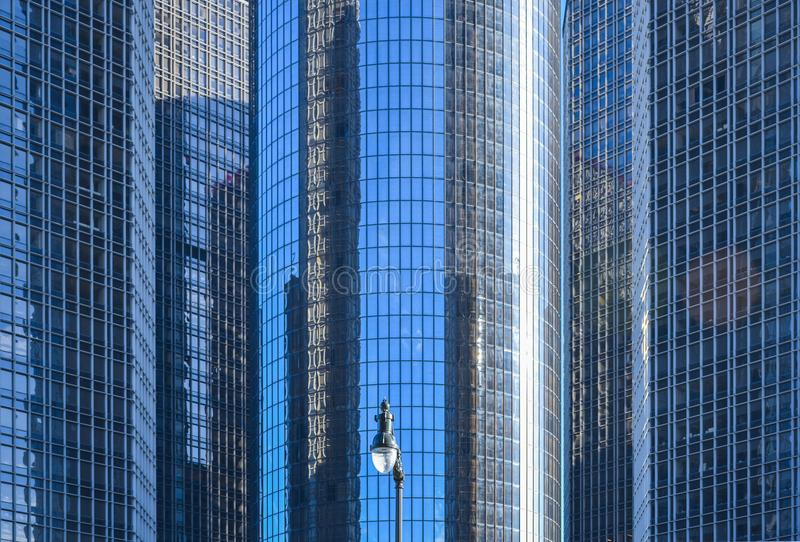 De Skyscarpers moderne bouw stock foto