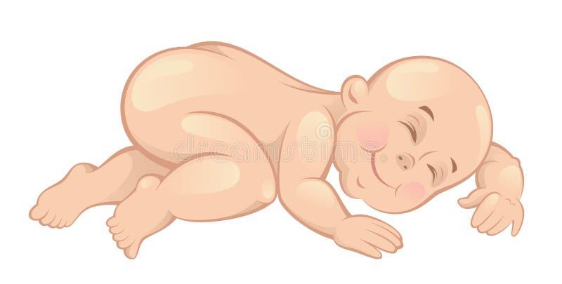 De slaap van de baby vector illustratie